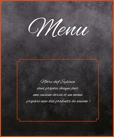 Carte menu Restaurant le Klube